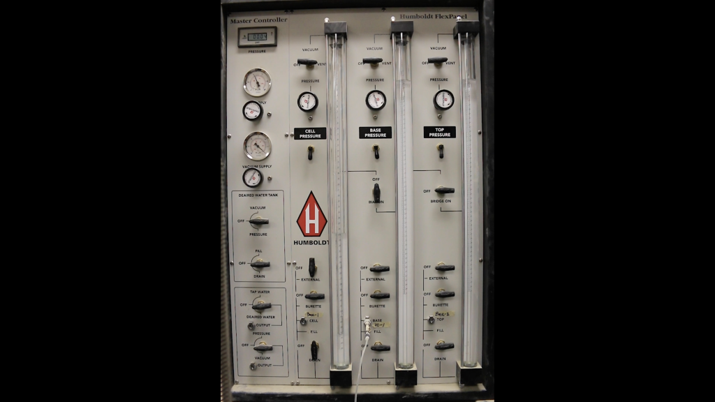 Triaxial control panel