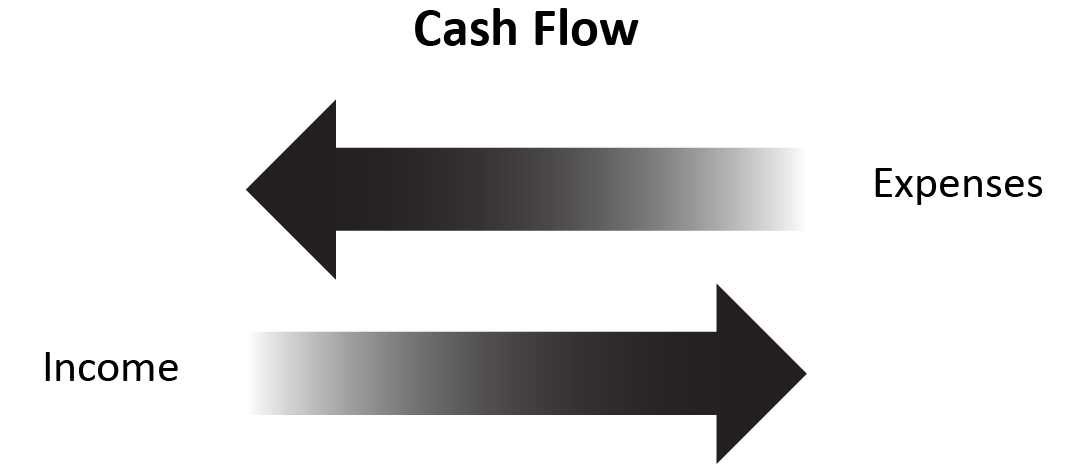Depicting the Cash Flow of Expenses and Income