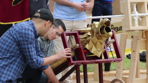 UTA Students Building a Siege Engine
