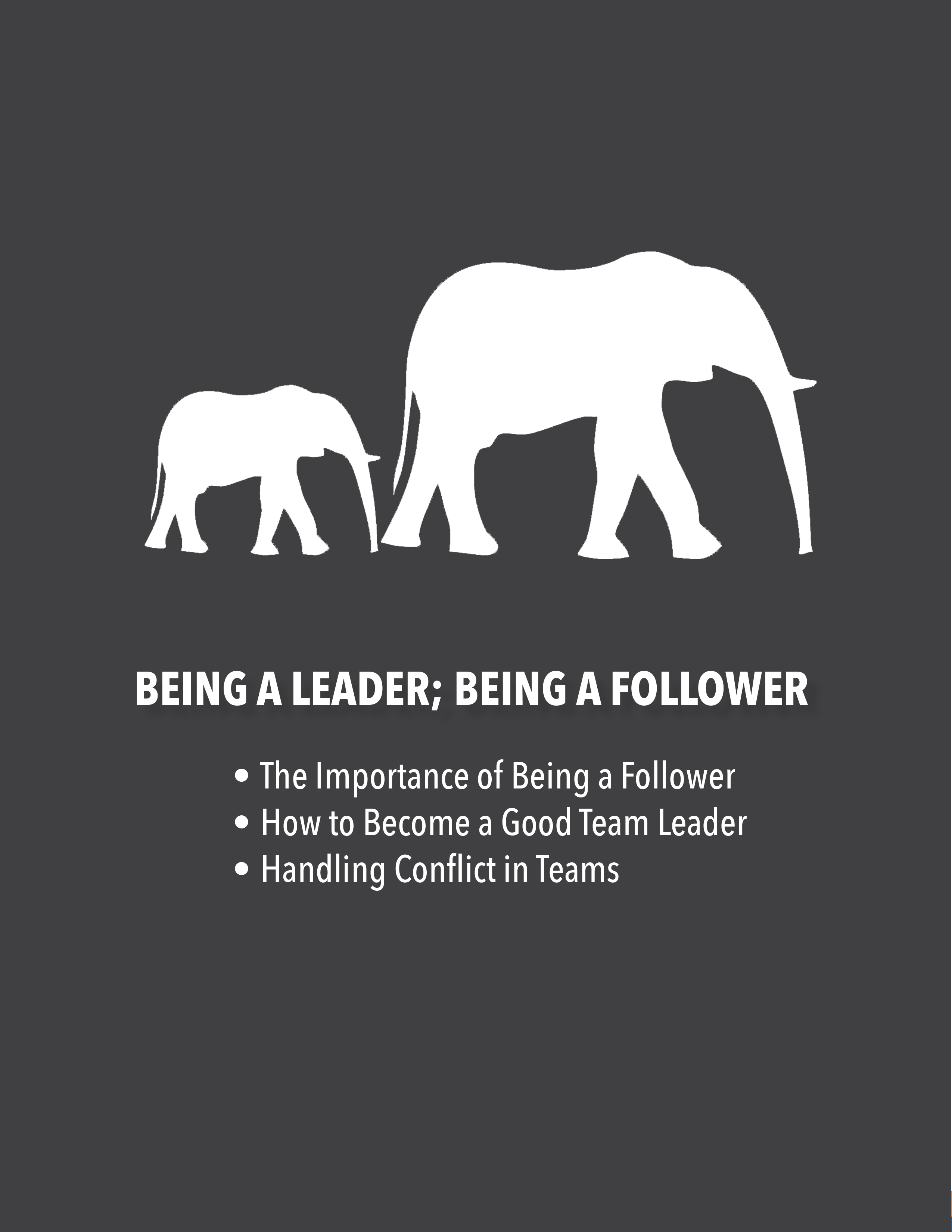 Being a Leader; Being a Follower: The Importance of Being a Follower, How to Become a Good Team Leader, Handling Conflict in Teams