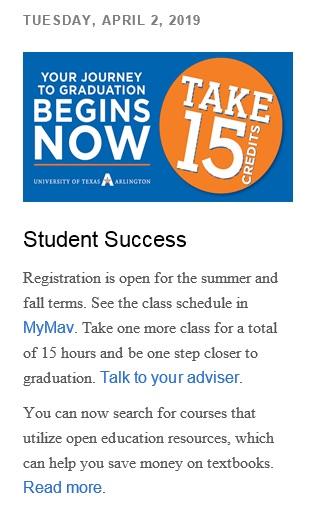 UTA's Student Newsletter