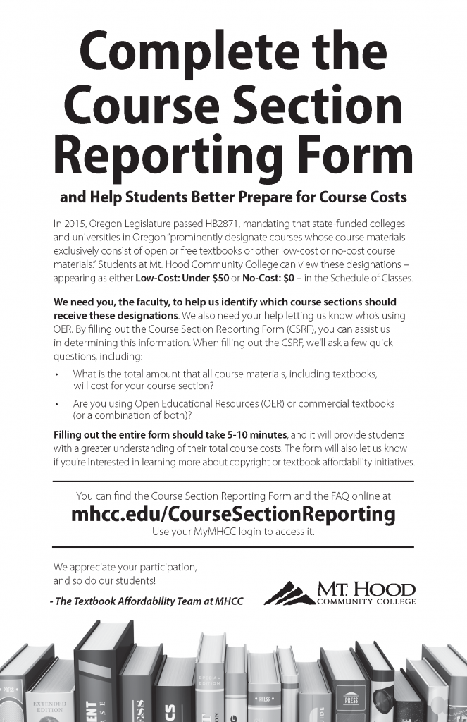 In-Service Flyer for Educators Announcing the CSRF